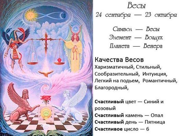 Весы по гороскопу