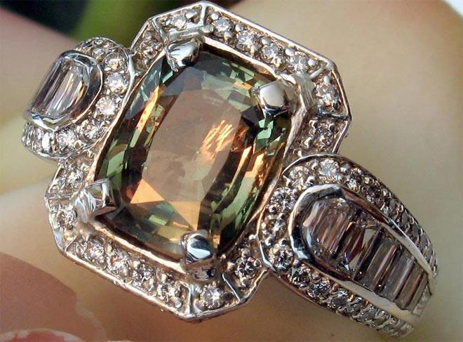 кольцо с александритом фото