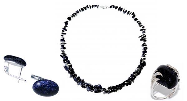 Кольцо, ожерелье и серьги