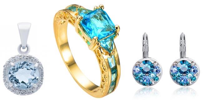 Кулон, кольцо и серьги