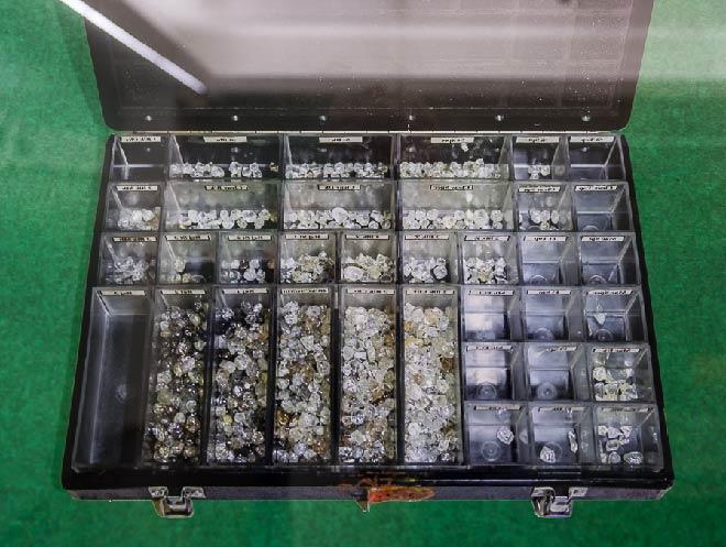 сортированные алмазы